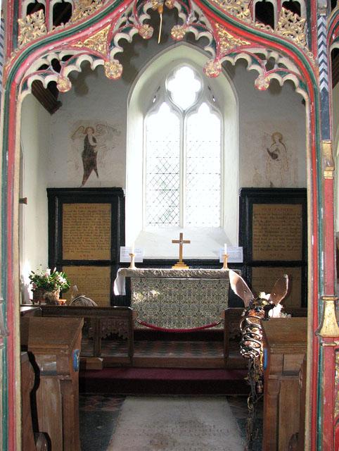 All Saints church - chancel viewed through rood screen