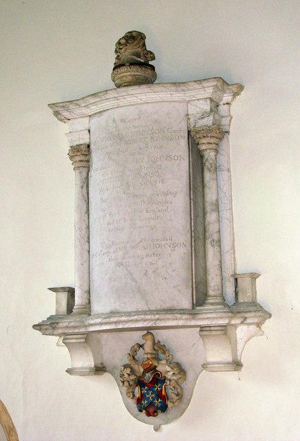 All Saints church - C18 wall monument