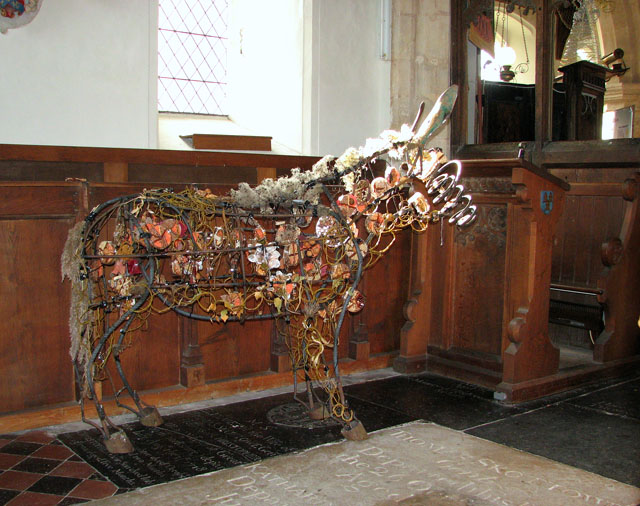 All Saints church - donkey by Rachel Long