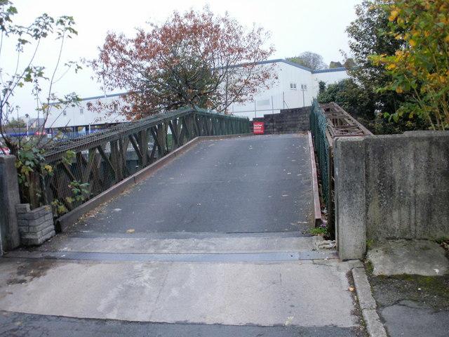 Exit bridge from Tesco's car park, Bridgend