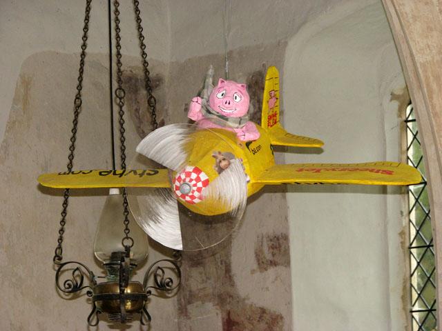 All Saints church - flying pig