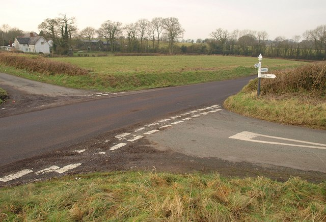 Crossroads near Voxmoor