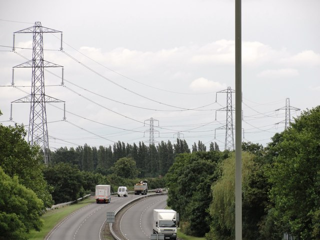 Dual Carriageway near Staines (A308).