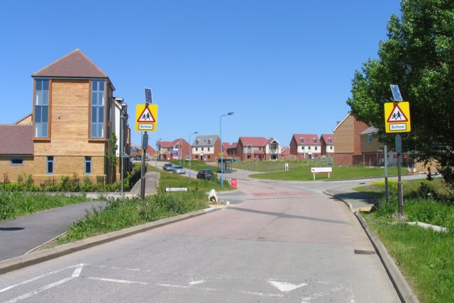 Broughton Road towards the old village