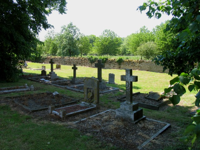 Graves in the churchyard at Broughton near to Milton Keynes