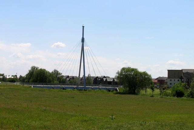 Suspension bridge in Broughton