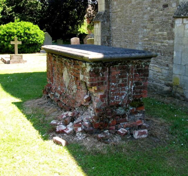 Disintegrating tomb