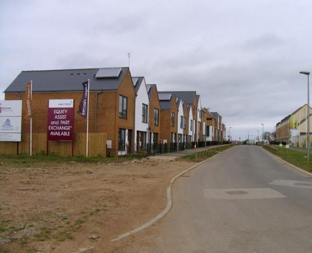 New road and new houses