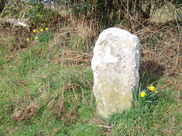 Boundary stone near Lytchett Matravers