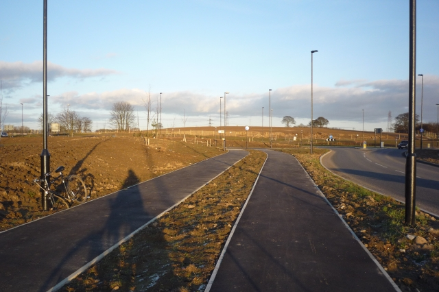 Cycle paths and new roundabout