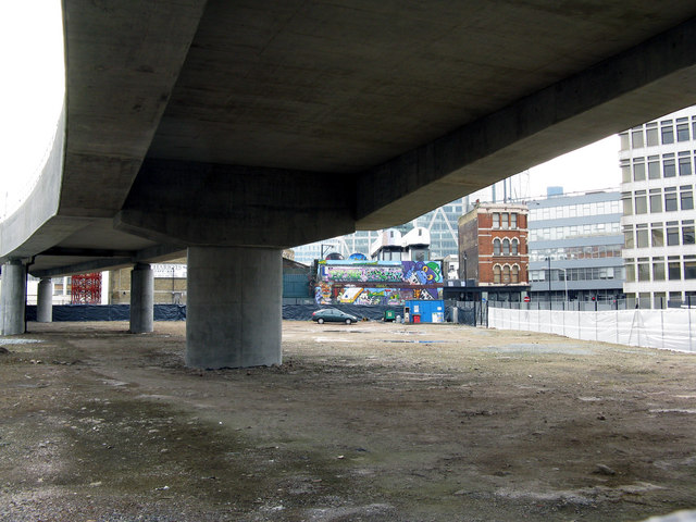 Shoreditch:  Underneath the new viaduct