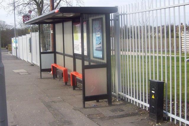 Bus shelter on Garrison Lane