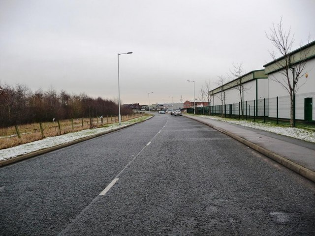 View from Green Lane Industrial Park towards Featherstone