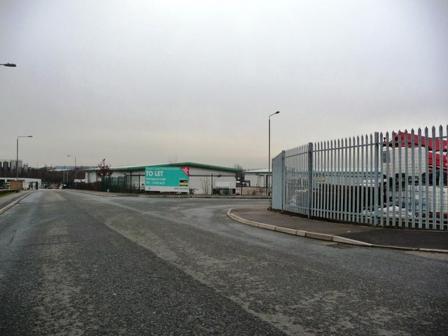 Junction of Warren Road and Boothroyds Way, Green Lane Industrial Park