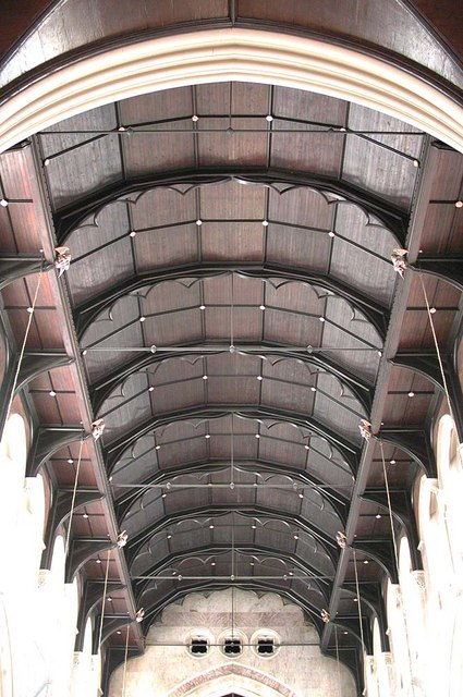 St James the Less, Sussex Gardens, London W2 - Nave roof