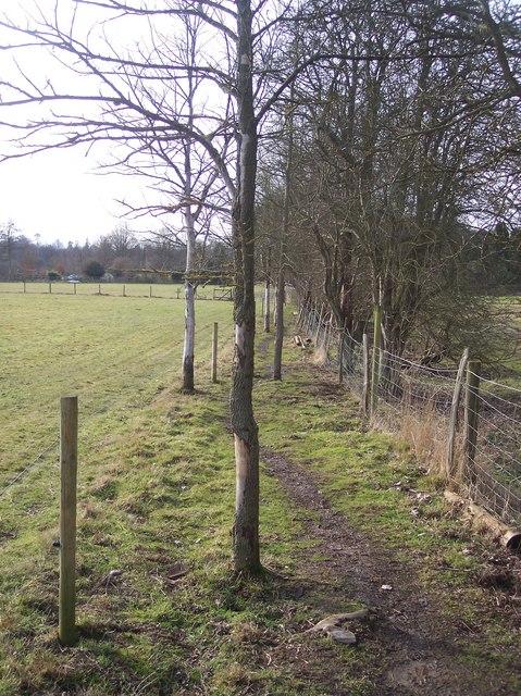 Winding path to Salmans Farm