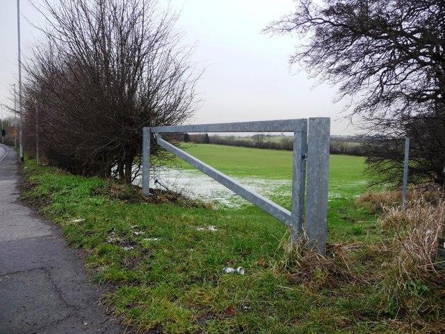 Minimalist gate into field on the B6378