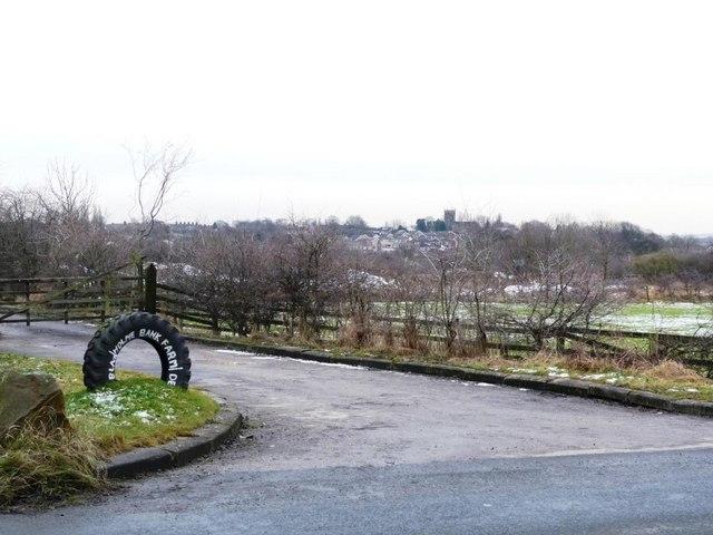 Entrance to Blackholme Bank Farm, on the B6378