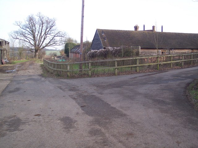Bridleway junction at Wat Stock