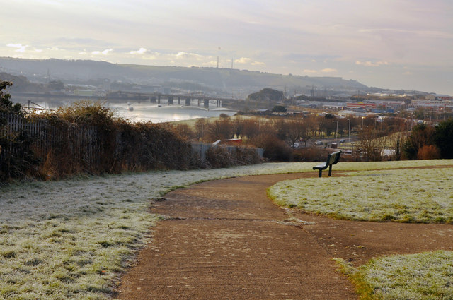 View from Mount Gould Park over the Plym estuary - Plymouth