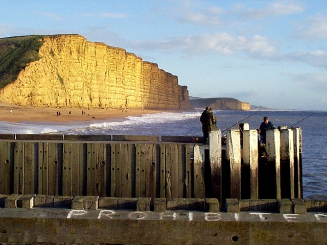West Bay:  The Old Piers