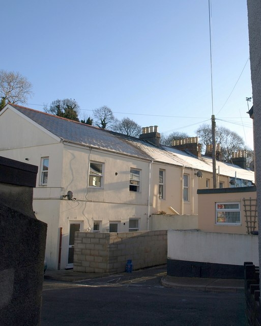 Rear of houses on Hele Road