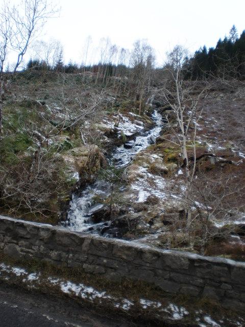 Allt a' Mhuilinn cascades exposed by Forestry Clear Fell