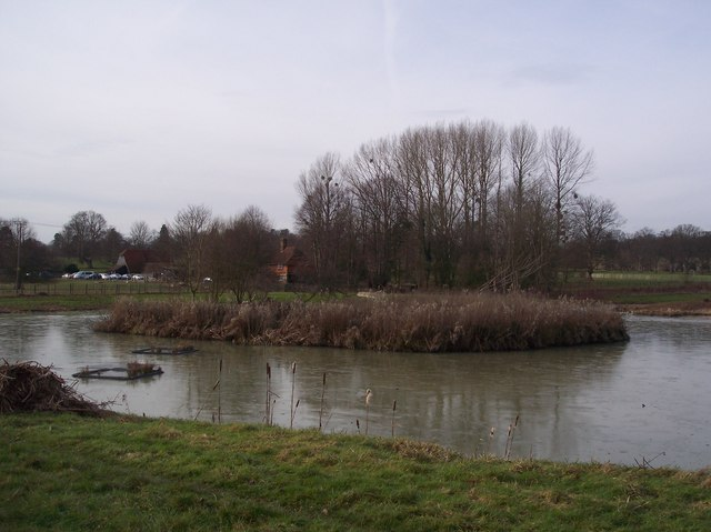 Penshurst Place Pond and visitor Centre