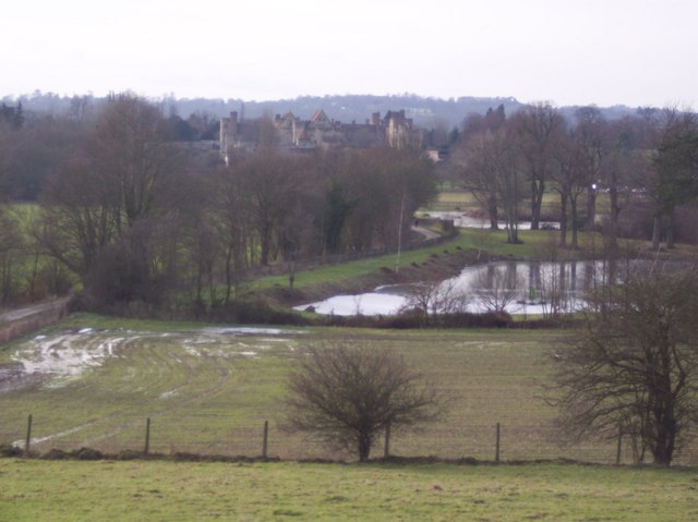 View of Penshurst Place from Well Place Farm