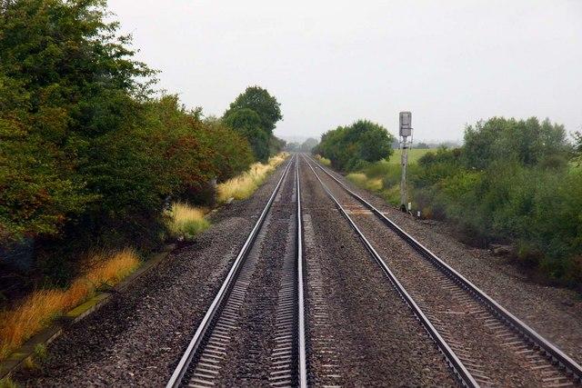 Up the line towards Birmingham