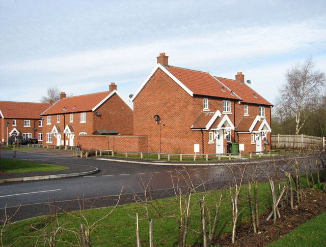 New houses in Homecroft