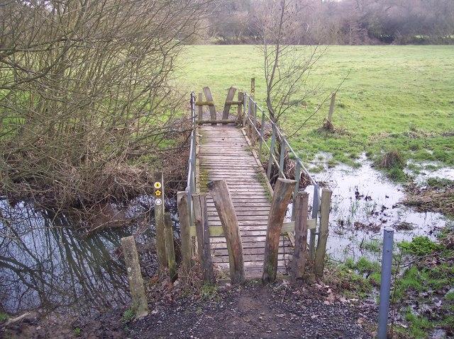 Footbridge on the Eden Valley Walk