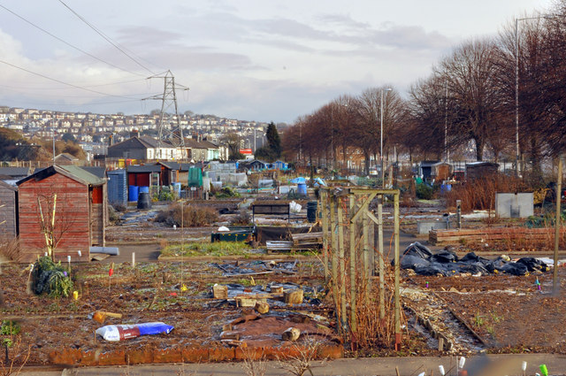 Embankment allotments - Plymouth