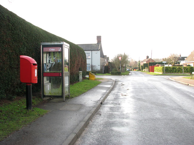 View south-west along School Lane