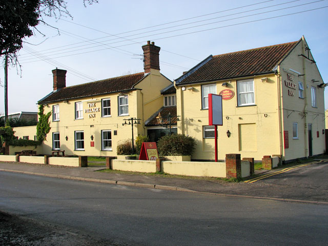 The Village Inn public house in School Lane