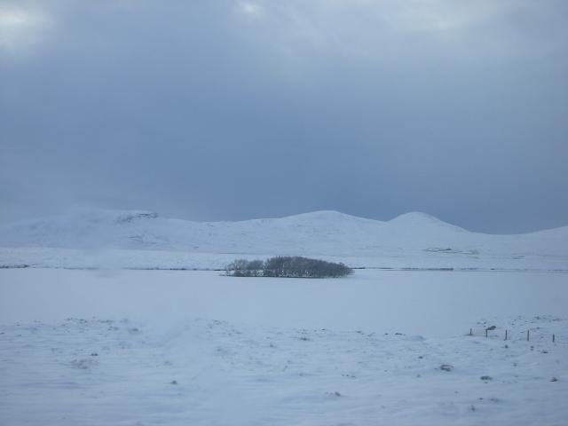 A frozen Loch Lucy