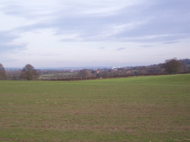 View of Tonbridge from Ashour Farm bridleway