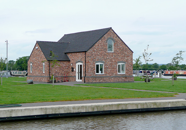 New marina building near Burland, Cheshire