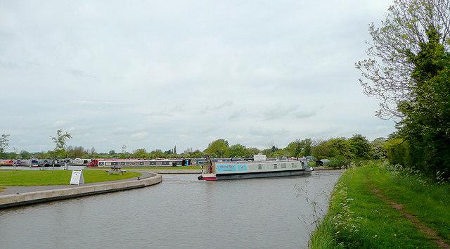 Canal and marina near Burland, Cheshire