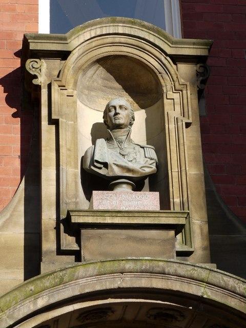 Bust of Collingwood, Milburn House, Side