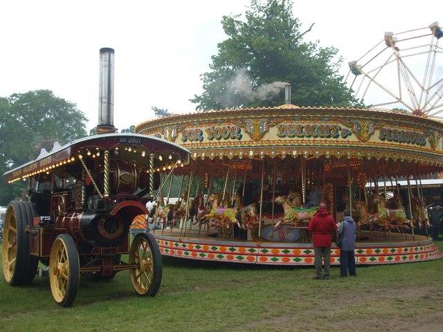 Showman engine at Strumpshaw