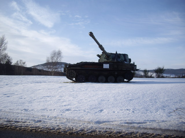 Battle Tank in the snow