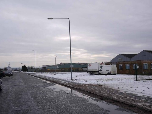 Snowy day in Inchinnan Business pPark