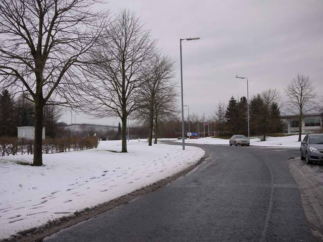 Snowy day in Inchinnan Business Park