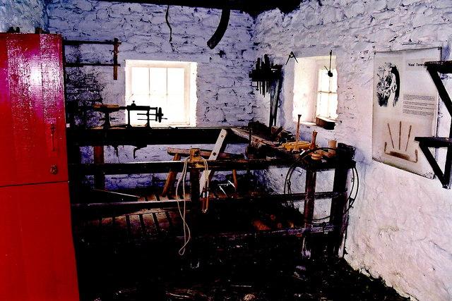 Cregneash Village - The Turner's Shed interior