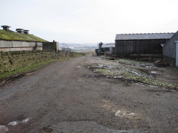 Footpath through Blakelaw Farm
