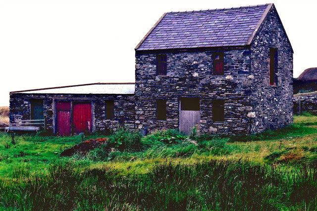 Cregneash Village - Stone farm building