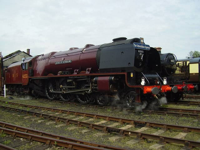 LMS 46233 Duchess of Sutherland at Didcot Railway centre
