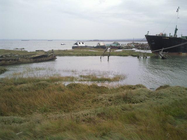 Boats' graveyard near Hoo Marina
