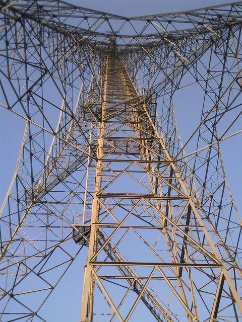 Swanscombe Pylon from beneath
